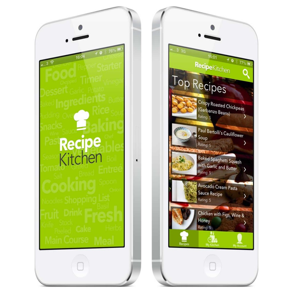 Recipe kitchen app design Kitchen design app