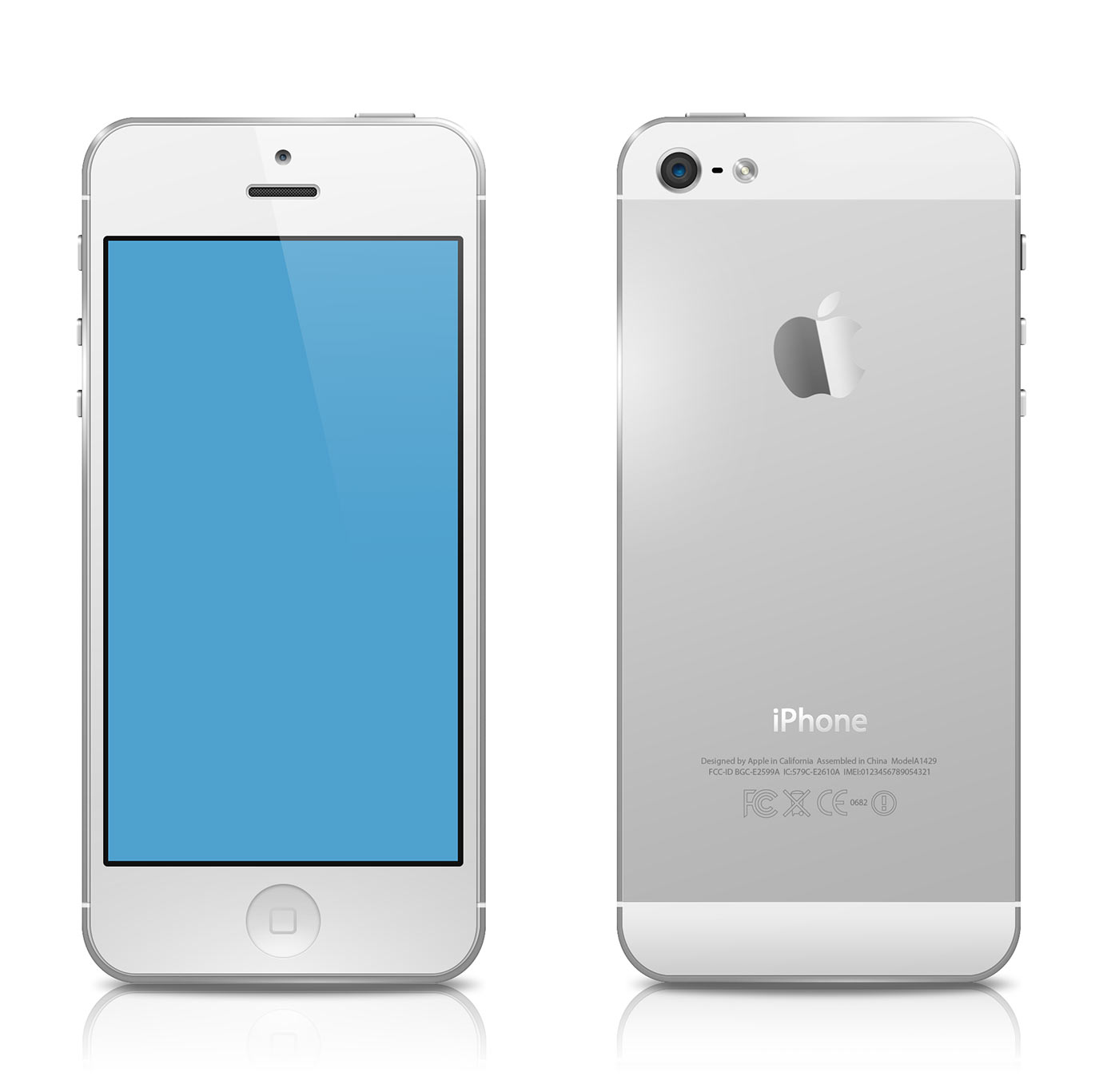 White iPhone 5 White Iphone 5 Psd